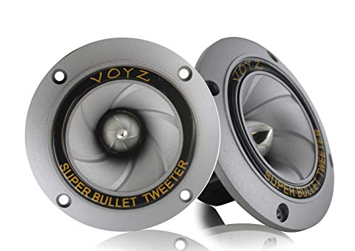 """VOYZ 400 Watts Max Power Speaker Tweeter - 3.5"""" Piezo Super Horn Tweeters with Aluminum Diaphragm and High Temperature Voice Coil - 4-8 ohms for Speaker Box or Sound Project 1 Pair (2pcs) (PET-1918)"""