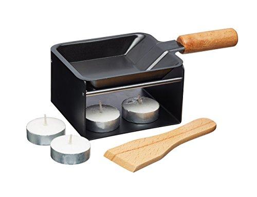 Kitchen Craft Raclette Master Class Artesa für 1 Person, Holz, Schwarz/Beige, 28 x 18 x 18 cm