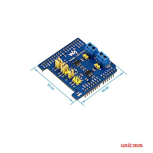 RS485 CAN Shield, RS485 CAN Shield Designed for NUCLEO/XNUCLEO, Arduino Standard Interfaces, Compatible With Arduino Boards, Arduino UNO, Leonardo, NUCLEO, XNUCLEO, Onboard Transceiver SP3485/MAX3485.