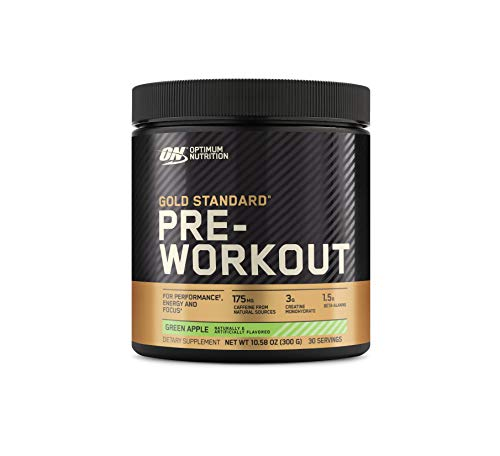 Optimum Nutrition Gold Standard Pre Workout with Creatine, Beta-Alanine, and Caffeine for Energy, Flavor: Green Apple, 30 Servings (Packaging May Vary)