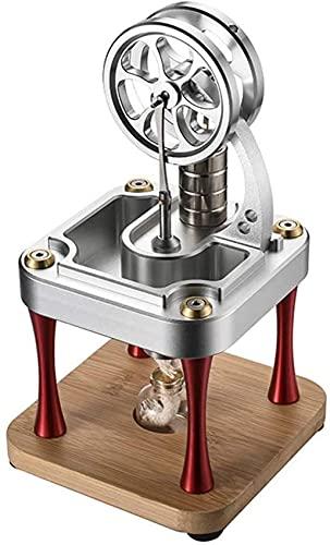 BJH Kit de Modelo de Motor de Motor Stirling, Juguete de Experimento científico de Motor Stirling de Metal de Alta Temperatura refrigerado por Agua para Adultos y niños