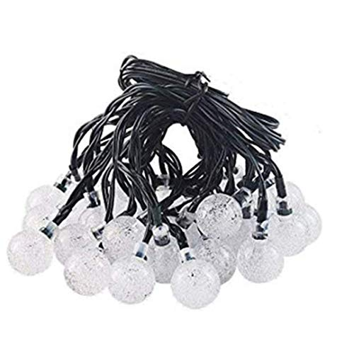Color Yun Creative Solar Light String 30Led Bubble Ball Ball Bubble Bead Indoor Holiday Christmas Decoration Light