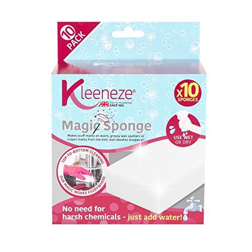 Kleeneze® KL076519EU7 Magischer Schwamm | Einfach Wasser hinzugeben | Vielfältig verwendbar | 10er-Pack