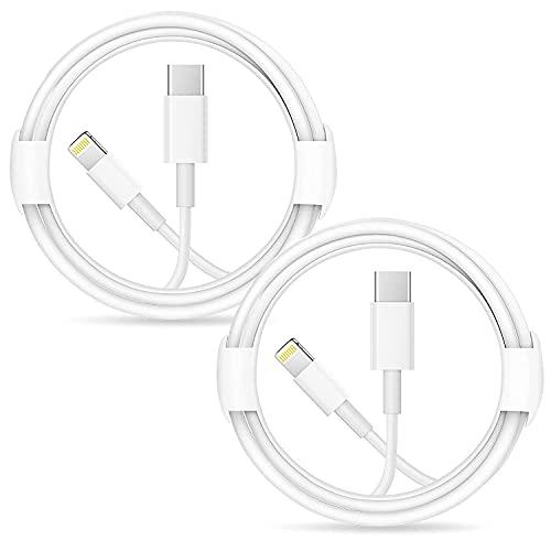 2 piezas Cable de conector Lightning a USB-C [Certificado Apple MFi] Cable...