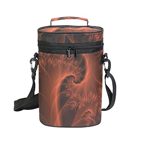 Burnt Orange Wine Travel Carrier & Cooler Bag - Rillingen 2 flessen wijn of champagne