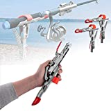 HelloTree Fishing Rod Holder Automatic Spring Tip-Up Hook with Stainless Steel Ground Support Fish...