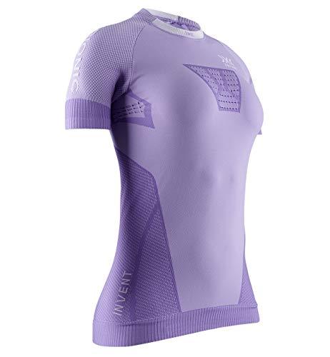 X-Bionic Invent 4.0 Running Women T Shirt DE Course Femme, Bright Lavender/White, S