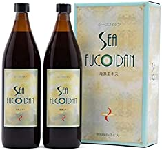 Sea Fucoidan Normal Type 900ml × 2 bottles with measuring cup Sweetened Type