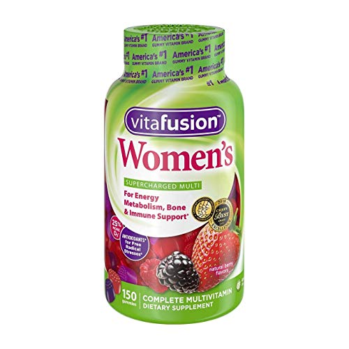Vitafusion Women's Supercharged Multi-Natural Berry, 150 Gummies
