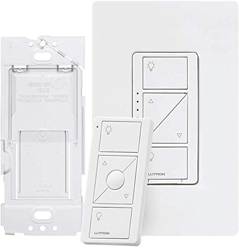 Lutron Caseta Smart Home Dimmer Switch and Pico Remote Kit, Works with Alexa, Apple HomeKit, and the Google Assistant   P-PKG1WB-WH   White