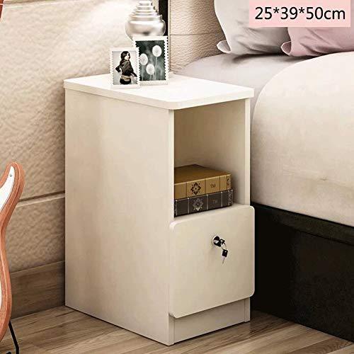 CTOUGUI Nachttisch Ultra verengen Abgerundete Speicherschrank Abschließbare Schlafzimmer Lagerung Nachttisch (Color : #2)