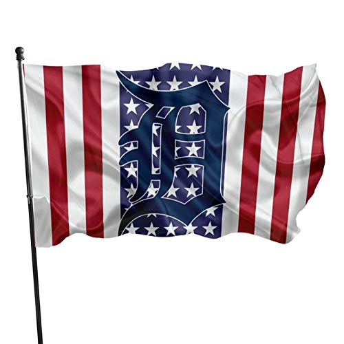 Fremont Die Detroit-Tiger&s Flag 3x5 ft Banner Flags Decorative for Home Garden Flag Polyester Fabric UV Protected