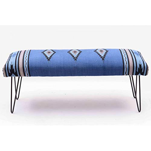 MATHI DESIGN Kilim - Banc Azur Tissu Coton