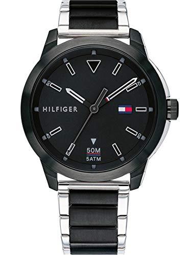 Tommy Hilfiger Reloj Analógico para Hombre de Cuarzo con Correa en Acero Inoxidable 1791619