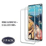 Roclot Galaxy S10 Verre Trempé, [Lot de 2] [Compatible Lecteur d'empreinte] 9H Dureté HD Film Protection écran, Ultra Résistant, Anti-Rayures, sans Bulles d'air, pour Samsung Galaxy S10