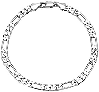 Silver Plated Classic Cubic Chain Style Bracelet for Men (A93MLP30S)