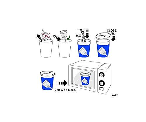 Menstruationstasse Yuuki Soft S aus medizinischem Silikon inkl. Reinigungs-Box - 5