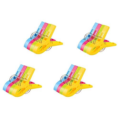 Vicloon Badetuch Clips 16 Stück große Wäscheklammern Handtuchklemmen Strandtuchklammern Clips Winddicht Klammern auf Strand und Sonnenliegen für Wäsche Strandtuch, Badetuch, Teppich