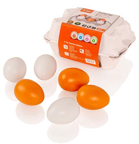 VIGA - Pack de 6 Huevos de Madera