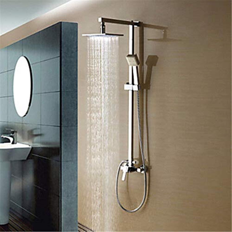 12 Zoll Mode alle Kupfer Temperaturregelung Dusche Dusche Set Led