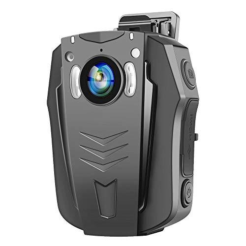 BOBLOV WiFi Körper Kamera HD 1296P Polizei Körper Getragen Videokamera Eingebautes Speicherlicht Polizeikamera mit IR Nachtsicht,Audioaufnahme,170° Weitwinkel (PD70 WiFi 32GB)