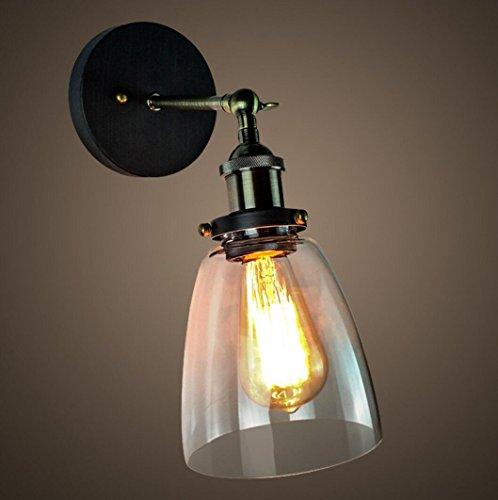 Vintage Lampe de cuivre Lampe de Mur en Verre Nordique américaine Country Bar allée escaliers Projet de Balcon Lampe Murale