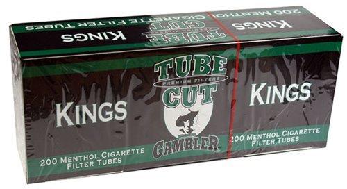 Gambler Tube Cut Menthol King Size RYO Cigarette Tubes 200ct Box (5 Boxes) by Gambler