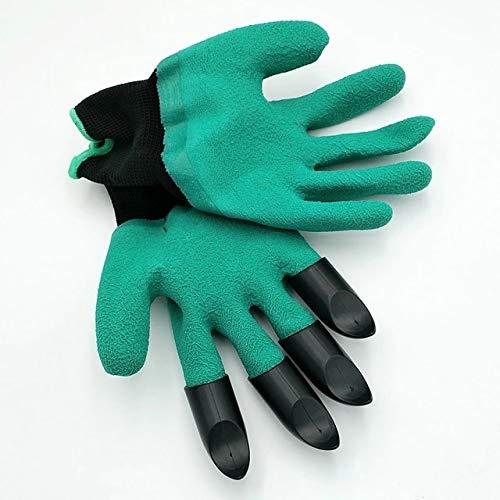Guantes de goma de jardín de seguridad guantes de jardinería para el suelo flip hombre Moman protección de la mano herramientas de jardín suministros de productos 1