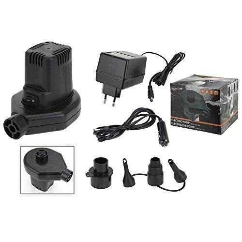 Elektrische Luftmatratzenpumpe mit 220 V Steckdose und 12 V Auto-Ladegerät