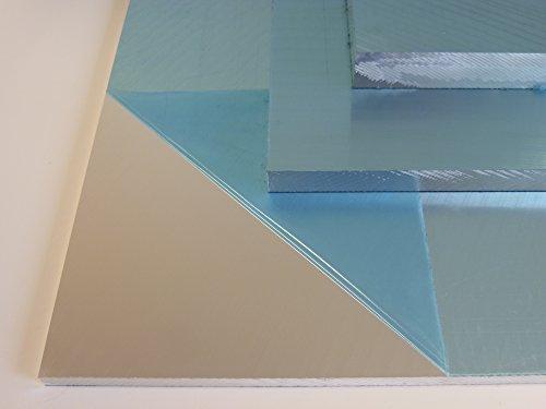 B&T Metall Aluminium Präzisionsgussplatte 10,0 mm stark beidseitig feinstgefräst und foliert im Zuschnitt Größe 100 x 100 mm (10 x 10 cm)