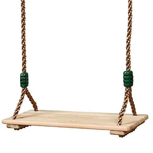 CampHiking Holzschaukel mit Korrosionsschutz, für drinnen und draußen, Pastoralholz, für Erwachsene und Kinder