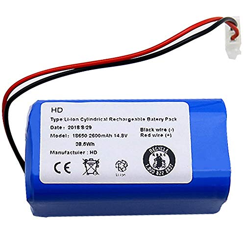 Lopbinte Batteria Ricaricabile per Ilife Batteria 14.8V 2600Mah Aspirapolvere Robot Accessori Ricambi per Ilife A4 A4S A6