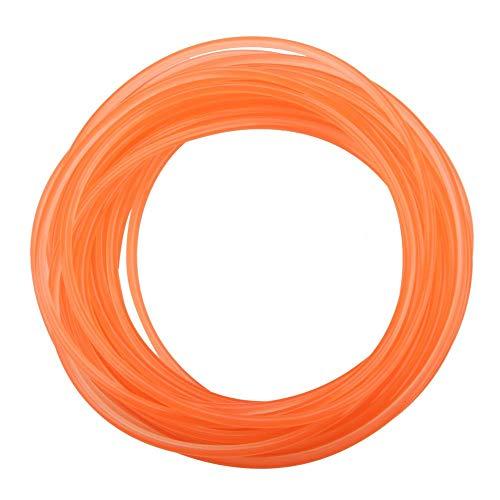 Akozon Polyurethan-Rundriemen, orange glatte Oberfläche PU-Polyurethan-Rundriemen für die Antriebsübertragung(4mm*10m)