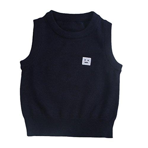 CHENGYANG Baby Ärmelloser Pullover Weste Oberbekleidung Baby Kleinkind Jungen Mädchen Sweatshirt Navy Asia 110