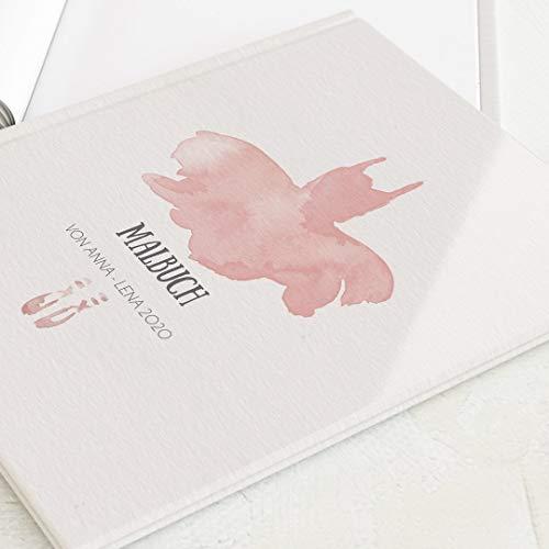 sendmoments Personalisiertes Malbuch mit Namen oder Lieblingsspruch, Mädchen, tolle Geschenkidee, Skizzenbuch, Hardcover-Buch quadratisch, 32 Seiten oder mehr - Ballerina