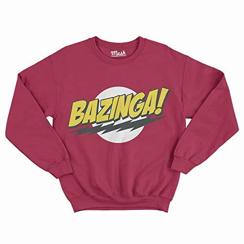 Felpa Girocollo Bazinga Big Bang Theory - TV Series Comedy - Unisex in Cotone - M
