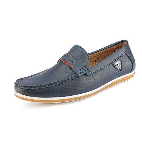 Bruno Marc BUSH-01 Mocasines Zapatos de Conducción para Hombre Azul Marino 41 EU/8 US