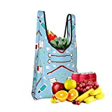 Mark Stars Cute Dentist Dental Hygienist Fold Eco-Friendly Shopping Bags Large Capacity Daily Necessity