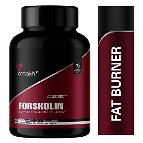 Amalth Coleus Forskohlii Extract Powder 500 Mg – 90 Veg Helps Weight Loss and Burn Fat