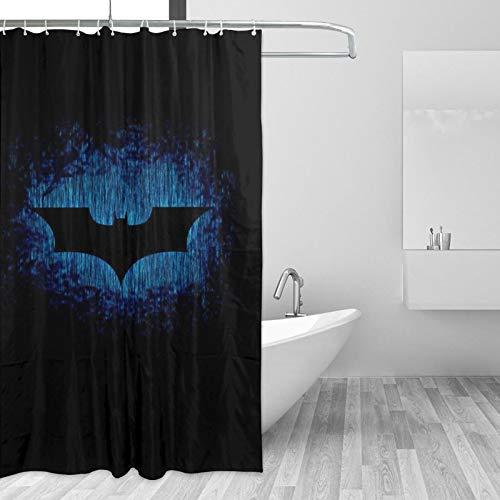 Why So Serious Joker Batman Duschvorhang-Set mit 12 Haken, Aquarell, dekorativer Duschvorhang, modernes Badezimmer-Zubehör, maschinenwaschbar (167,6 x 182,9 cm)