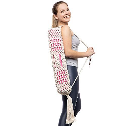 Dharana Bolsa Esterilla Yoga - Funda Yoga - Yoga Mat Bag - Hecha a Mano en Macramé -...