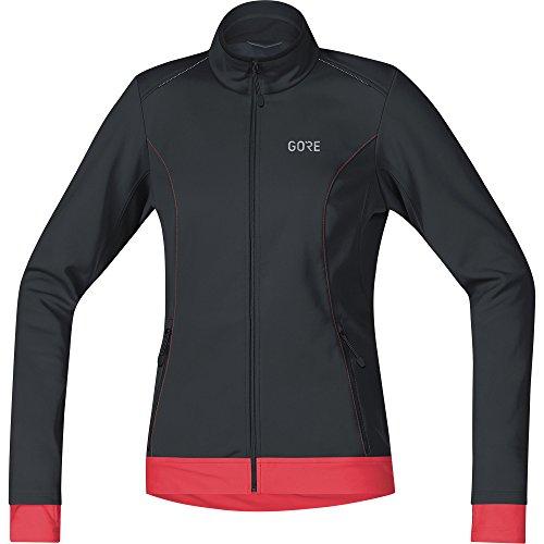 GORE Wear Giacca antivento da ciclismo per donna, C3 Women GORE WINDSTOPPER Thermo Jacket, 40, Nero/Fucsia, 100328