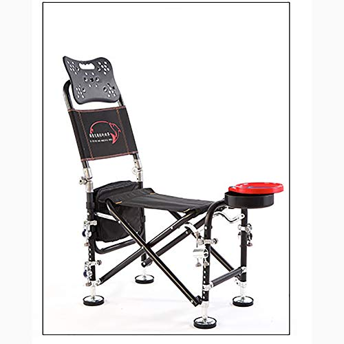 XER Chaise Pliante de pêche, extérieur Polyvalent pêche chaises avec Plus Accessoires, léger et Portable Pliable Tabouret pour la pêche, Le Camping,B