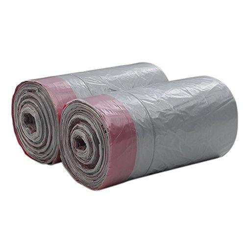 Qsbon 1.6 Gallon Small Drawstring Trash Bags, Grey, 125 Counts