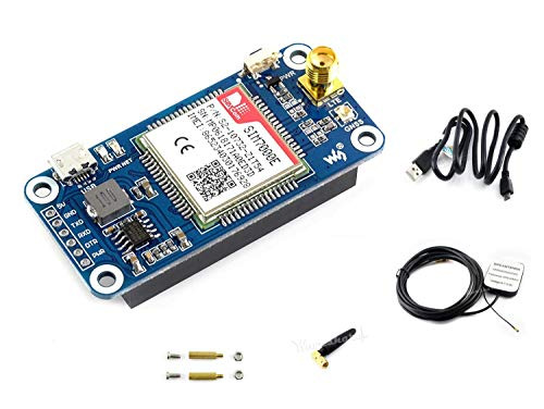 IBest Waveshare NB-IoT/eMTC/Edge/GPRS/GNSS Hat for Raspberry Pi Zero/Zero W/Zero WH/2B/3B/3B+ Based on SIM7000E Support TCP, UDP, PPP, HTTP, FTP, MQTT, SMS, Mail,GNSS Positioning