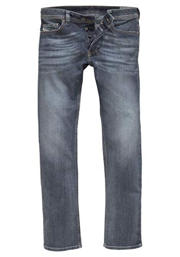 Diesel Men's Safado Regular Slim Straight-Leg Jean 0885K, Denim, 38x32