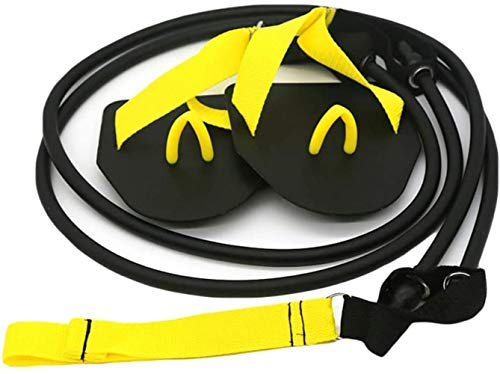 Banda elástica para Entrenamiento de natación,ROTEK Natación Brazo Fuerza Entrenador Nadar Aletas de Remo Conjunto Profesional de Bandas de Ejercicio de Resistencia de natación Estilo Libre