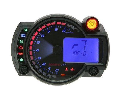 Tachometer KOSO RX2N Analog/Digital Blau 10.000RPM 360km/h