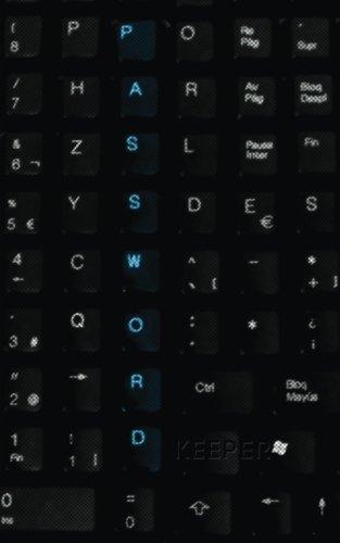 Password Keeper: Password Reminder Book (Keyboard Cover)