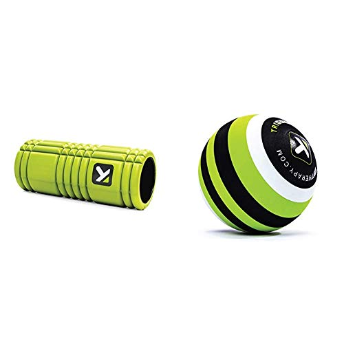 TRIGGERPOINT 04405 Grid Foam Roller Lime Myofascial Release with Japanese Guide Book Diameter 4.7 inches (12 cm), Green 04422